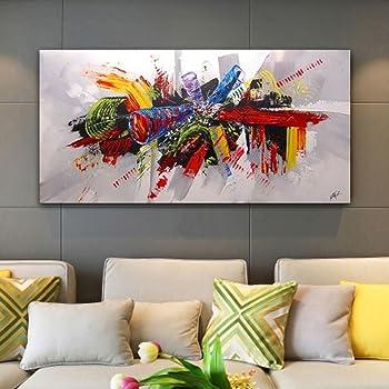 La Vie Quadro su Tela Dipinto a Mano Pittura Murale Decorativa Wall Art per Home Decor Casa Ufficio Studio Spa Hotel Regalo senza Cornice 60 * 120cm