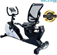 Welcare WC1588 Recumbent Exercise Bike with Adjustable Seat, Magnetic Resistance, Pulse Monitor and LCD Display (Free Install