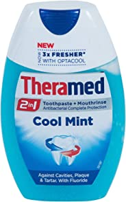 Theramed 2in1 Cool Mint Fluoride Toothpaste and Antibacterial Mouthwash