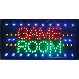"""CHENXI LED-Schild mit """"Game Room""""-Aufschrift, Display 48x25cm, für Spielzimmer/Billard/Gioco Poker/Golf/Sport/Entertainmen"""