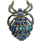 Ttjewelry Classic Deluxe Strass Cristallo Grande Ciondolo a Forma di Ragno Enorme Animal B10479200