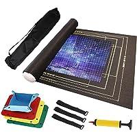 Coriver Rouleaux de puzzle en feutre pour 2000 pièces, tapis de sol pour scie sauteuse, tapis de rangement pour puzzle…