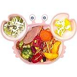 Qshare Placa de succión para bebés, mantel individual antideslizante de silicona para bebés pequeños con ventosa fuerte que s