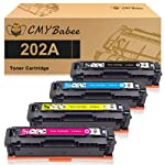 CMYBabee Compatible Toner Cartridges Replacement for HP 202A HP CF500A for HP Laserjet Pro M281fdw M254dw M254dn M254nw...