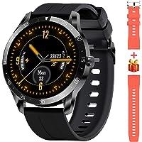 Blackview Smartwatch,1.3 Zoll Touch-Farbdisplay Fitness Armbanduhr mit Pulsuhr Fitness Tracker 5ATM Wasserdicht Sportuhr Smart Watch mit Schrittzähler, Stoppuhr, Schlafmonitor für Herren Damen