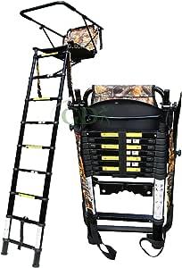 GDK Teleskop-Hochsitz, 2,5m, Teleskop-Hochsitz mit Leiter für die Jagd