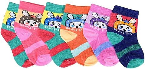 Krystle Kid's Cotton Socks, 1-2 Years(Multicolour, KIDS-3-SOCKS-PO6-1-2YRS) - Pack of 6