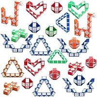 Viccess 24 Pièces Serpent Magique Snake Puzzle Cube Magie Serpent Twist Puzzle Twisty Toy pour Enfants et Adultes