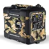 Böhmer-AG Camo Petrol Inverter Generator W4500i, 1.9KW, Ultra Low Noise - UK Plugs