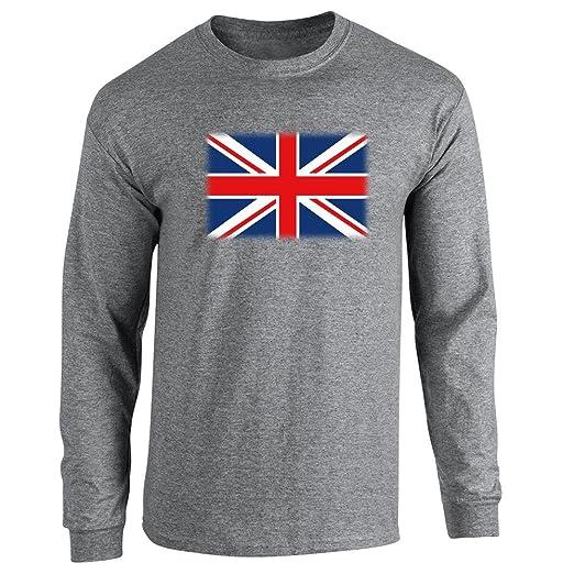 Union Jack Flag Long Sleeve T-Shirt by Pop Threads: Amazon.co.uk: Clothing