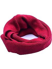 Butterme Hiver Snood écharpe tricot écharpe tube enfants boucle écharpe  enfants garçons et filles douce écharpe 759a007d9f1