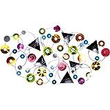 KunstLoft Extravagante Metall Wandskulptur 'Kunterbunte Galaxie' 123x69x6cm   Design Wanddeko XXL handgefertigt…
