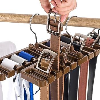 Himmelblau BESTOMZ Krawattenhalter G/ürtelhalter Schal Organizer Rack Haken multifunktionale Aufbewahrung Kleiderb/ügel