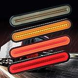 Evermotor Led-vrachtwagen aanhangwagen achterlicht, dynamisch sequentieel stromend signaallicht hanger achterlicht stop turn