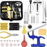 Tool Kit di Riparazione Orologi Professionale Strumento di Riparazione Portable Set Orologiaio Attrezzi di Apertura kit di Co