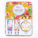 Hand Cream Gift Set for Women - Body Care Gifts Set with Shea Butter, Skin Care Gift Box Includes 2 Hand Cream & Exfoliating