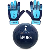 Tottenham Hotspur FC Junior Gift Set Size 4 Football & Goalkeeper Goalie Gloves