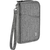 Reisepass Tasche HOPAI Reisepasshülle RFID-Blocker Schutzhülle | Familienreise Brieftasche Pass Hülle Passport Etui Ausweistasche Dokumente Organizer für Damen/Herren (M)