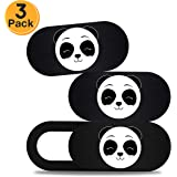 SunEye Webcam Cover Slide Laptop Camera Cover Cute Panda Ultra Thin Webcam Privacy Cover Laptop Computer Mobile Phones Tablet