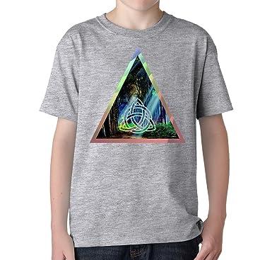 Fantasy forest mystic sign triangle logo dope Unisex Kinder baumwolle T- Shirt: Amazon.de: Bekleidung