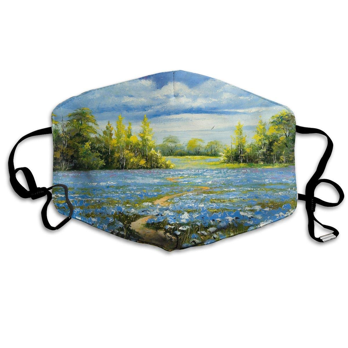Daawqee Máscara de Boca, Antipolvo Cubierta de Boca Fantasy Landscape Print Reusable Washable Earloop Máscara de Boca for Men Women