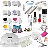 Kit de Manucure et Nail Art ultra complet Maryland - 24 accessoires dont lampe UV 36W et gels UV + gels de couleur - Sun Garden Nails