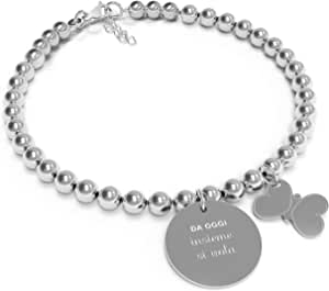 10 Buoni Propositi Bracciale Donna Insieme si vola Collezione Mini Jewel