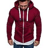 Mens Zip Hoodies Tracksuit Tops Hoody Plain Sport Hooded Sweatshirts Work Casual Top Lightweight Outdoor Long Sleeves Tops Sp