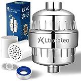 Hoogwaardige douchefilter, douchefilter, 15 lagen, met extra reserve filterpatronen, voor het verwijderen van water, chloor,