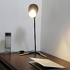 Craftter Metal focus light Unique Design Decorative Table Lamp (Black)