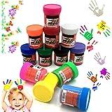 OCEANO 12×50ml Botes Pintura de Dedos para niños, Pintura de Dedos,Lavable Pinturas para niños no tóxicas, de Color Natural y