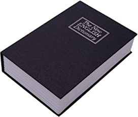 House of Quirk Large Dictionary Book Safe Cash - Black