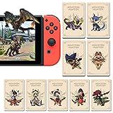 Coltum NFC Card per Monster Hunter Rise NFC Amiibo, switch Lite. Comprende: Palamute, Palico, Magnamalo.Mini Card 9 pezzi
