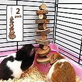 Juguetes masticables de madera de manzana orgánica, paquete de 2 pequeños bocadillos de animales juguetes adecuados para cone