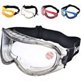 BB Eye Protection Protective Lab Anti Fog Clear Goggles Glasses Vented Safety HC