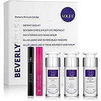 Skin Care Gift Set for Women - Instant Facelift, Anti Ageing Serum, Eye Cream for Dark Circles, Eyelash Serum, and Black…