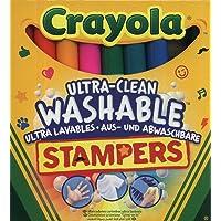 Crayola - 8 Mini Stampers Emoticones ultra lavables - Loisir créatif - Coloriage - papeterie - dessin - à partir de 3…