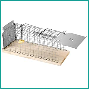 Praknu Rattenfalle Lebendfalle 30cm Groß - Effektiv und Robust - für Wühlmause, Ratten