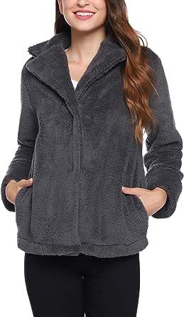 iClosam Cappotto Donna Invernale Lana Elegantes Classico Parka Giacca Felpa Jacket Coat Outwear