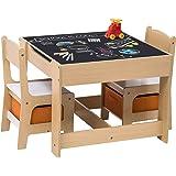 WOLTU 1 Table d'enfant + 2 chaises avec Espace de Rangement pour Enfants d'âge préscolaire,SG002