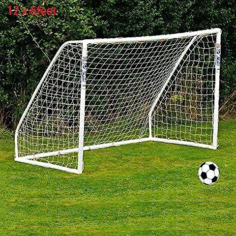 Yaying 12 x 6 pies Portería de Fútbol la Neta para Meta del Fútbol Post Training Junior Deportes