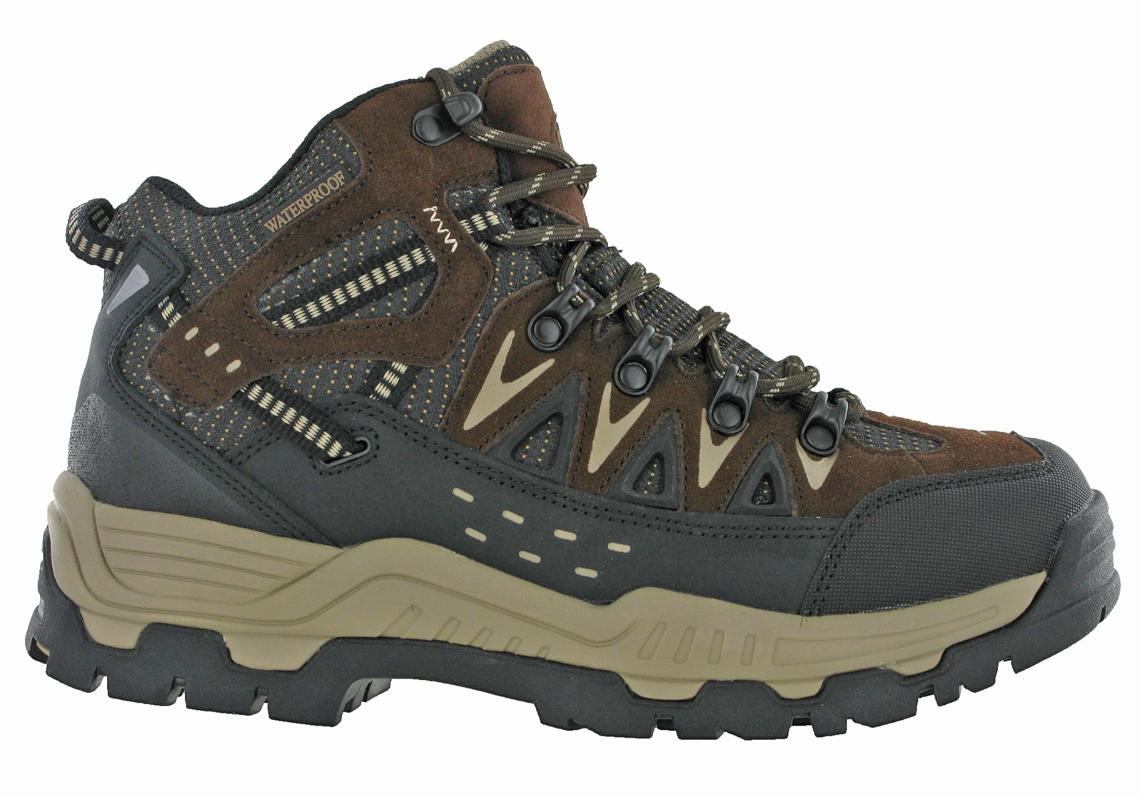 Northwest Mens Piers Hi Cut Brown/Beige Ankle Walking Boots 3