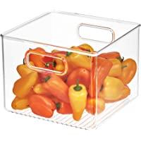InterDesign Cabinet/Kitchen Binz boîte de rangement, grand bac de rangement pour réfrigérateur en plastique, transparent