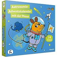FRANZIS 67162 - Maus Astronomie Adventskalender 2021, 24 Versuche und Forschungsideen zum Entdecken, Staunen und Lernen…