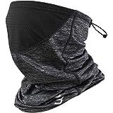 Polma Cooling Neck Gaiter Face Mask - Breathable Lightweight Dust & UV Sun-Protection Bandanas for Men Women Outdoors
