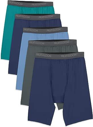 Fruit of the Loom Men's Micro-Stretch Long Leg Boxer Briefs Underwear