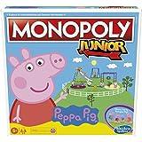 Hasbro Monopoly Junior: Peppa Pig Edition, gioco da tavolo per 2-4 giocatori, per bambini dagli 5 anni in su