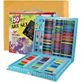 Shuban Art Supplies for Kids Deluxe Kids Art Set for Drawing Painting and More with Portable Art Box, Coloring Supplies Art K
