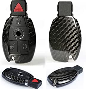Voll Carbon Echt Carbon Schlüssel Hülle Gehäuse Passend Benz A B C E S Gla Glc Cla V Klasse Auto