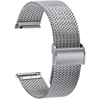 TStrap Montre Bracelet Maille Milanaise - Bracelets de Montre Remplacement à Dégagement Rapide pour Hommes Femmes…